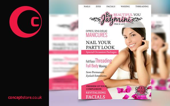 leaflet design for a beauty salon