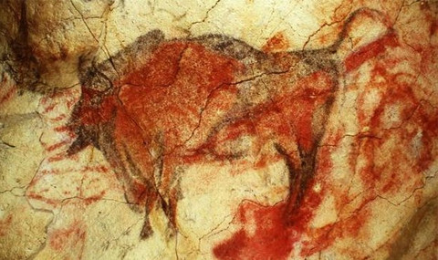 Cave painting print advertising