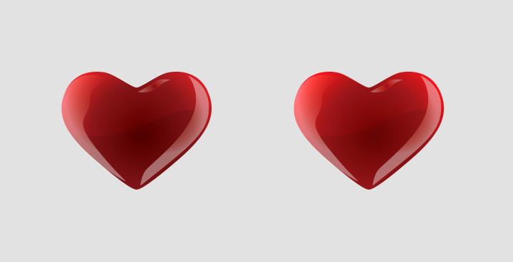 colour hearts