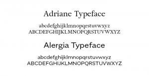 Different Typefaces represent letters drawn in different styles by different artists (typographers) to reveal unique end result