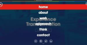 Nimble tank uses a mobile responsive navigation menu for the desktop