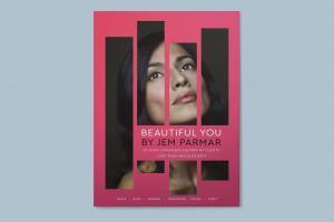 beautician flyer design and branding