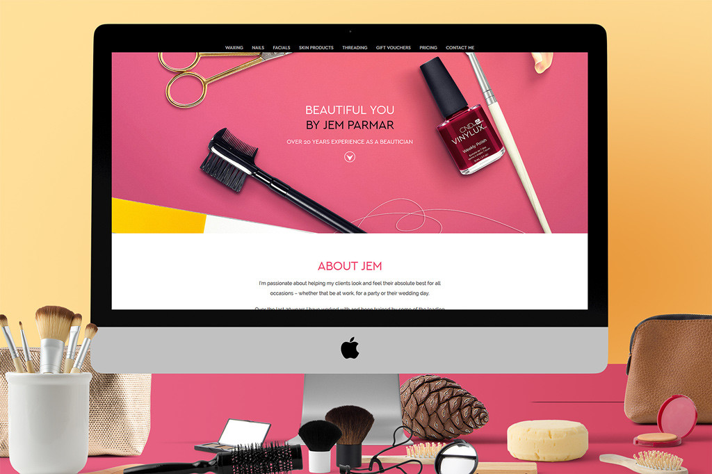 beautician web design
