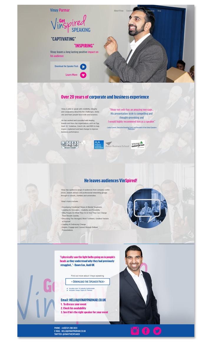 web design for a business coach