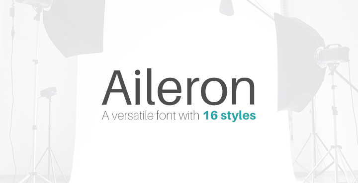 Aileron: A contemporary sans-serif font from TipoType