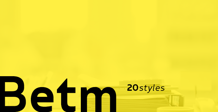 Betm: A brilliant sans-serif front in 20 different styles