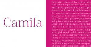 camila-serif-font