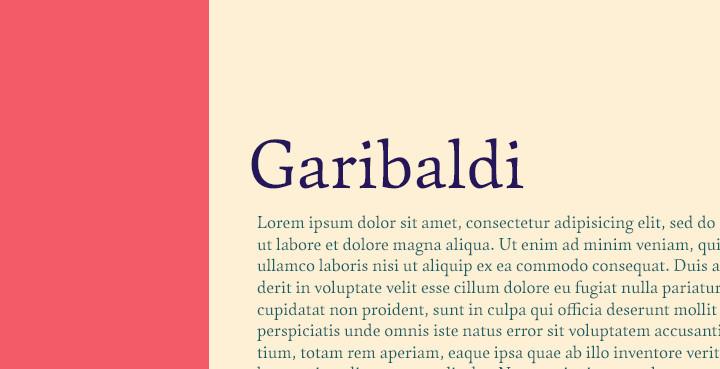 garibaldi-serif-font
