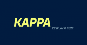 The kappa font comes in text and display font formats