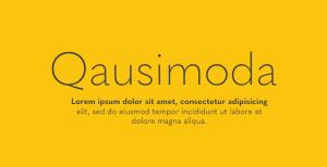 Quasimoda: A fantastic sans-serif font from lettersoup