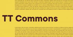 TT Commons: A humanist sans-serif font
