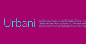 Urbani: Another beautiful sans-serif font from W Foundry