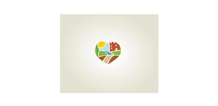 Soft watercolour effect logo design