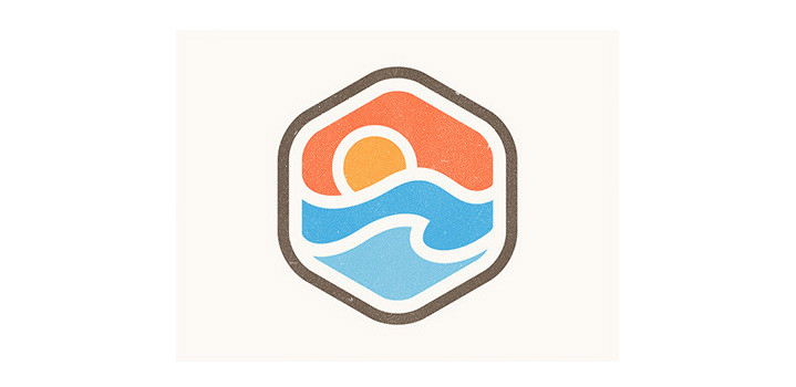 A modern take on a stained glass logo design