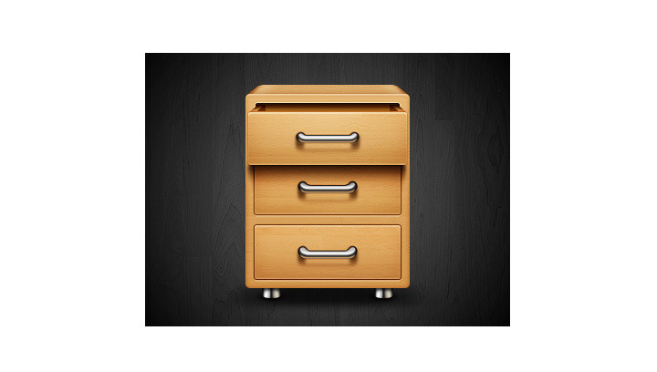 Chest of drawers Icon Design