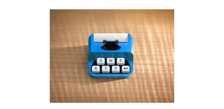 Typewriter Icon Design