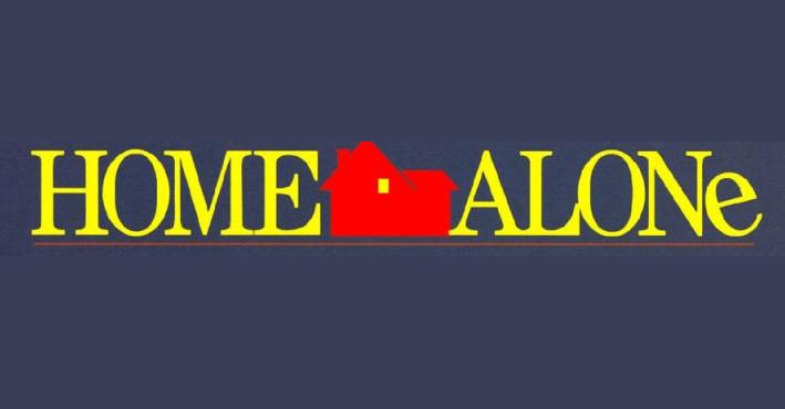 Home Alone movie logo design