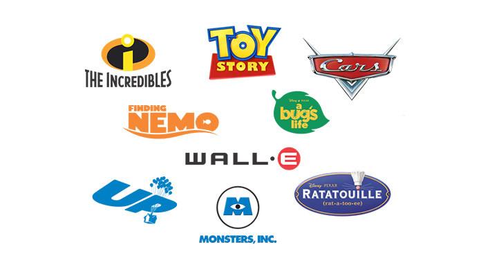 Pixar movie logos