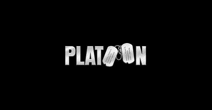 Platoon movie logo design