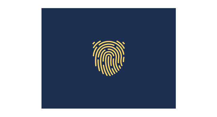 Fingerprint shield logo design