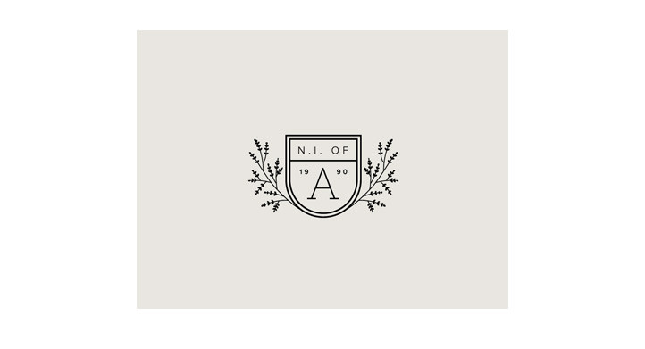 Modern coat of arms logo design