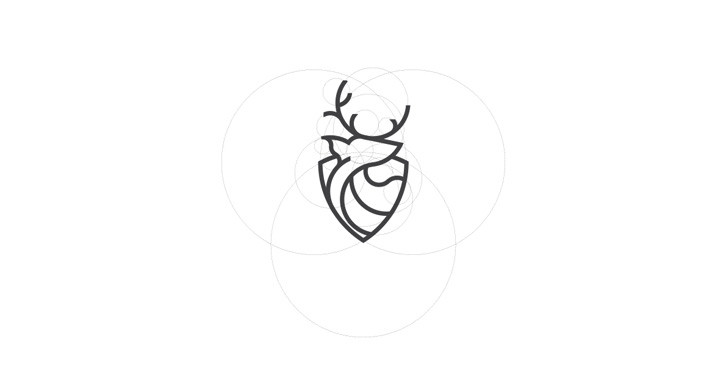 Deer Shield Logo Design