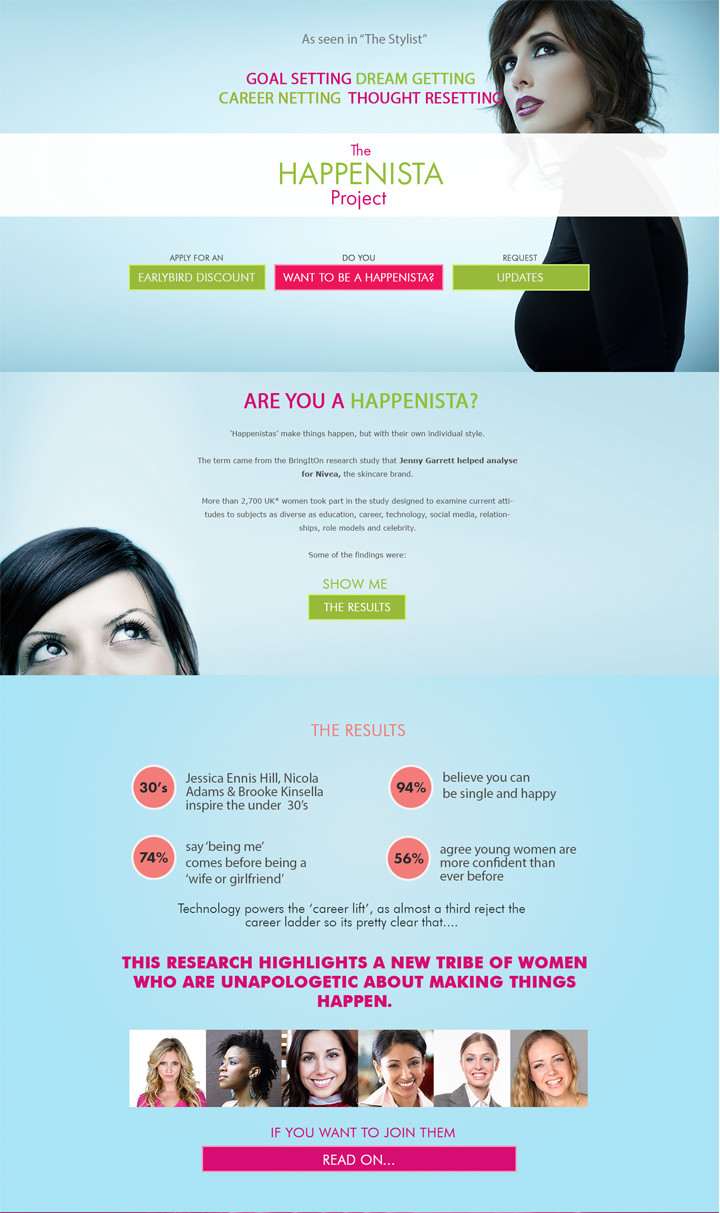 The Happensita Project - Branding, webdesign