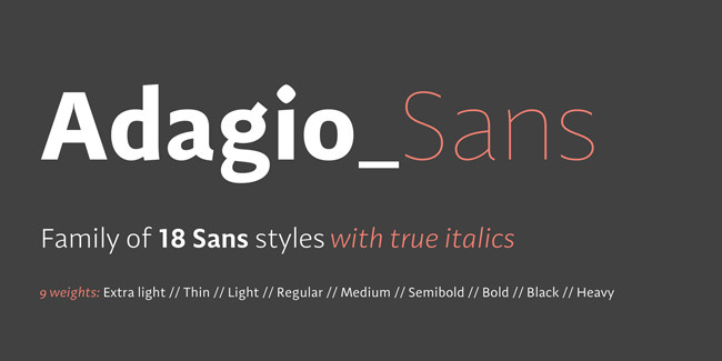 Adagio_Sans_1 font for sale