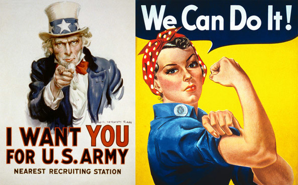 Uncle Sam & Rosie The Riveter
