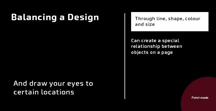 Design principles balance
