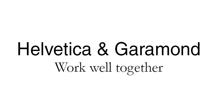 pairing fonts