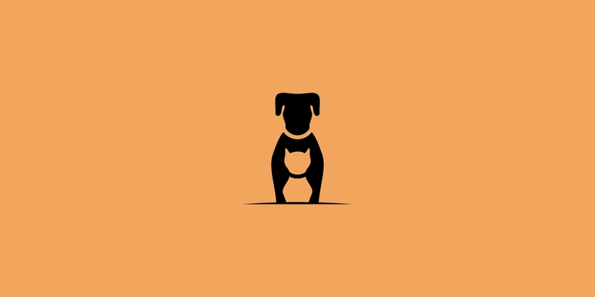 cat and dog logo design
