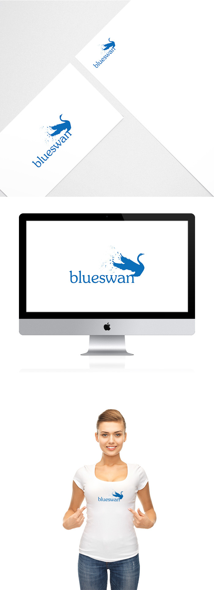 blue swan logo design