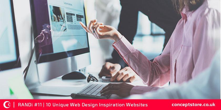 10 Unique Web design Inspiration sites | RANDi #11
