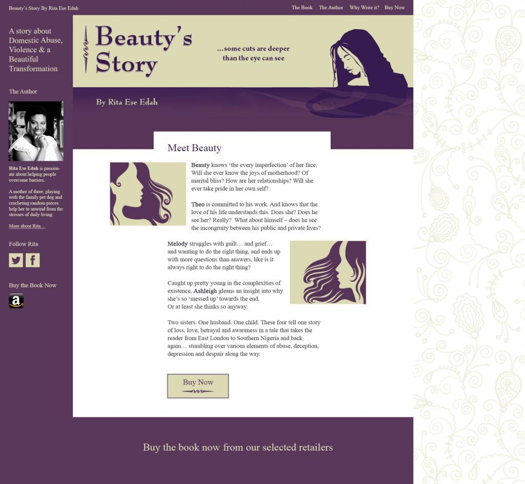 Web Design for Author Edna Ese